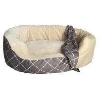Boots & Barkley Medium Oval Cuddler Pet Bed Cover - Ikat Lattice