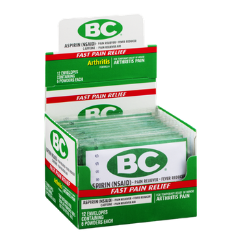 BC Aspirin Powder Arthritis Pain - 12/6 CT