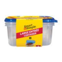 Smart & Simple Disposable Large Entree Containers, 3 pk