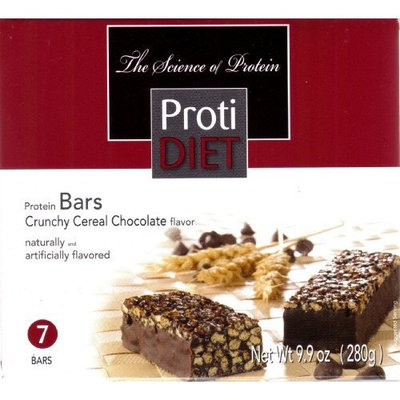 Protidiet Crunchy Cereal Chocolate Flavor Protein Bars (box of 7 bars)