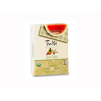Davidson's Tea Davidson Organic Tea 2255 Tulsi Spicy Green Tea Box of 8