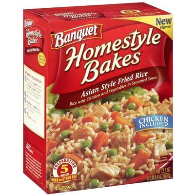 Banquet, Homestyle Bakes, Asian Style Fried Rice, 22.4oz Box (Pack of 3)