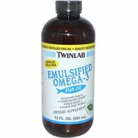 Twinlab Emulsified Omega-3 Fish Oil Mint 12 fl oz