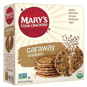 Marys Gone Crackers Mary's Gone Crackers, Caraway, 6.5-Ounce Boxes (Pack of 12)