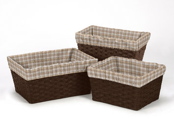 Sweet Jojo Designs 3 Piece Wild West Plaid Basket Liner Set