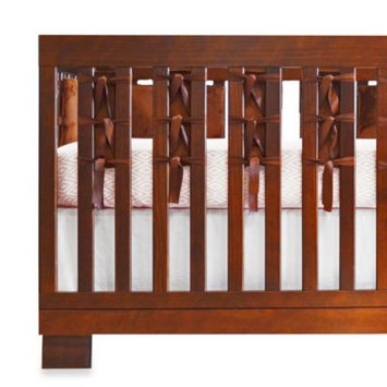 Oliver B 20-Pack Ventilated Slat Bumpers in Espresso Minky