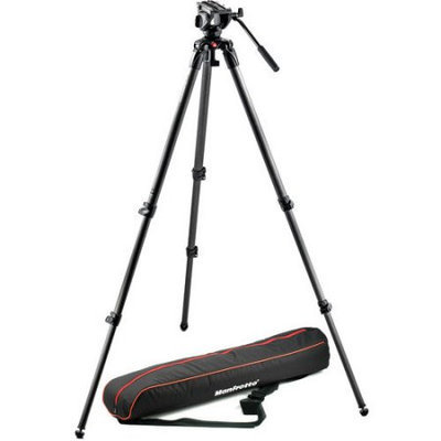 Manfrotto US - Lightweight fluid video system / carbon / single legs