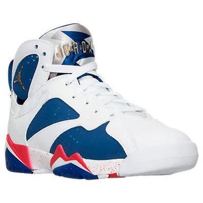 Nike Boys' Grade School Air Jordan Retro 7 Basketball Shoes, Boy's, White