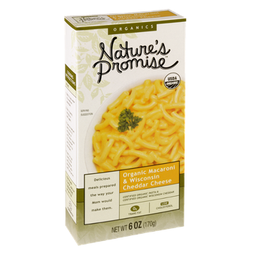 Nature's Promise Organics Organic Macaroni & Wisconsin Cheddar Cheese