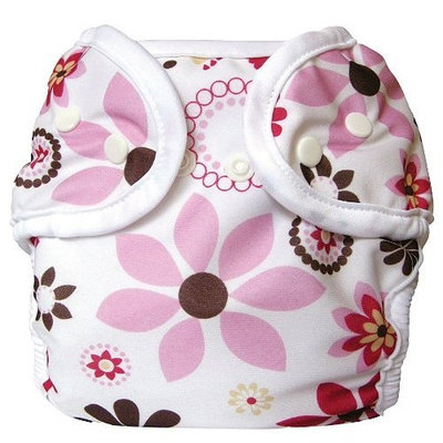 Bummis Super Snap Diaper Cover, Bloom, Medium (Discontinued by Manufacturer)