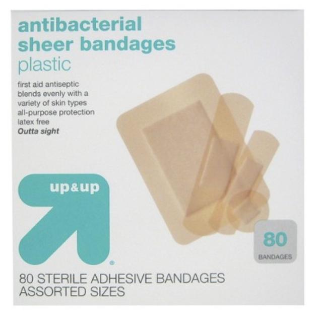 up & up up&up Antibacterial Sheer Bandages