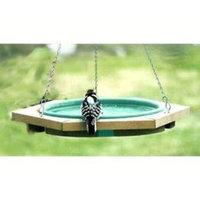 Songbird Essentials Songbird Essentials Mini Hanging Bird Bath Green, Cedar, 23L x 19.75W x 19.75H in.