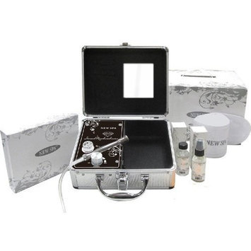 Diamond Microdermabrasion Portable Machine NEW SPA HOME Skin Care Kit (Silver&Black)