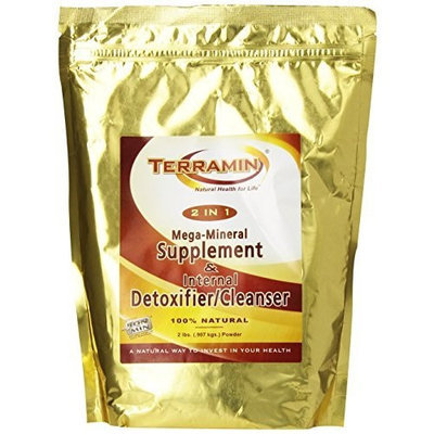 Ion Charged Minerals Terramin Mega-Mineral Supplement & Internal Detoxifier/Cleanser, 2-Pounds
