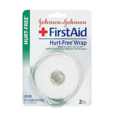 Johnson & Johnson Red Cross  First Aid Tapes Non-Dispenser Hurt-Free Blister Card 2