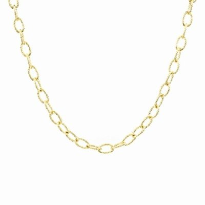 Emitations Cable Link Chain, 3.7 mm, 24 inch, Gold, 1 ea