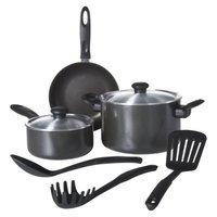 Chefmate 8 pc Cookware Set Graphite