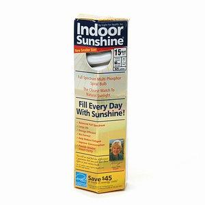 Indoor Sunshine 15 Watt Full Spectrum Compact Fluorescent Bulb