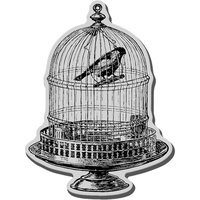 Stampendous Inc Stampendous Cling Rubber Stamp-Vintage Birdcage