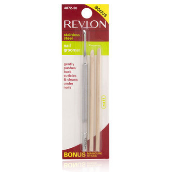Revlon Stainless Steel Nail Groomer With Bonus Manicure Sticks