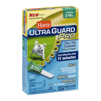 Hartz Ultra Guard Pro Flea & Tick Treatment for Dogs and Puppies 5-14lbs - 3 CT