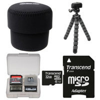 OP/Tech Essentials Bundle for Sony ILCE-QX1 & Cyber-Shot DSC-QX30 Smartphone Lens-Style Camera with 32GB Card + Case + Tripod + Kit