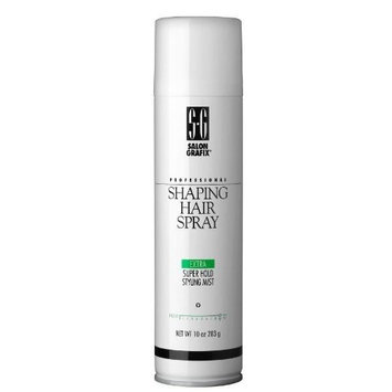 Salon Grafix Shaping Hair Spray, Super Hold Styling Mist - 10 oz (Pack of 3)