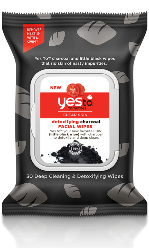 Yes To® Tomatoes Detoxifying Charcoal Facial Wipes