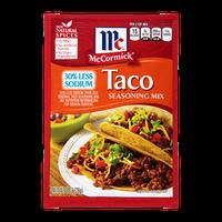 McCormick® Taco Seasoning Mix 30% Less Sodium