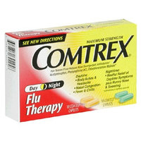 C Comtrex Flu Therapy Caplets, Day/Night, Maximum Strength, 20-Count (Pack of 4)