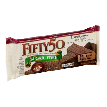 FIFTY 50 Low Glycemic Sugar Free Chocolate Creme Filled Wafers