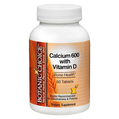 Botanic Choice Calcium 600 with Vitamin D Dietary Supplement Tablets