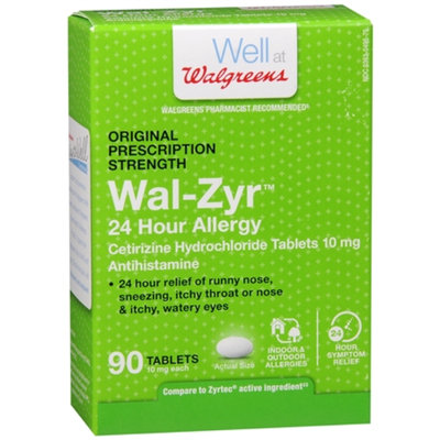 Walgreens 24 Hour Allergy 10mg Tablets, 90 ea