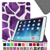 iPad Air 2 Case - Fintie Ultra Slim Stand Case with Auto Wake / Sleep Feature for Apple iPad Air 2, Giraffe Purple