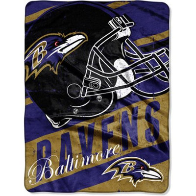 Walmart Inc Baltimore Ravens NFL Deep Slant 46x60 Micro Raschel Throw Plush Blanket