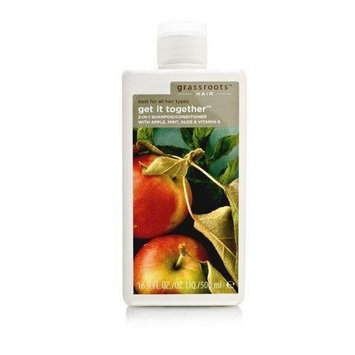 Grassroots by Grassroots: Get It Together 2in1 Shampoo/Conditioner with Apple & Mint & Aloe & Vitamine E (All Hair Types)--/16.9OZ
