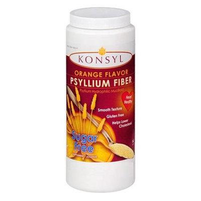 Konsyl Psyllium Fiber Sugar Free Powder, Orange Flavor - 283 Gms