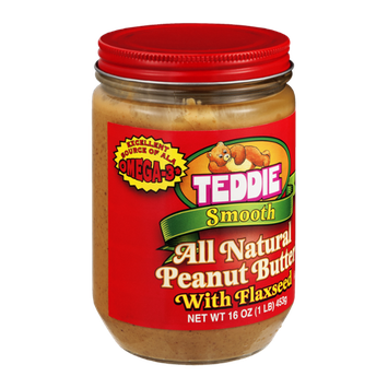 Teddie Peanut Butter All Natural Smooth With Flaxseed