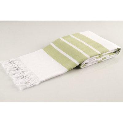 Lunasidus Pasha Herringbone Peshtemal Beach Towel Color: Green