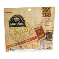 Boar's Head Brand Spicy Chipotle Gouda Cheese 3 Pepper Colby Jack Cheese - 6 CT