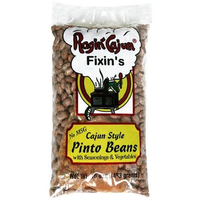 Ragin Cajun Fixin's Louisiana Pinto Beans with Seasoning and Vegetables, 16-Ounce Bags (Pack of 12)