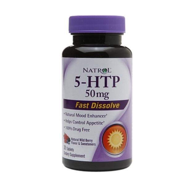 Natrol 5-HTP 50mg Fast Dissolve, Natural Wild Berry, 30 ea