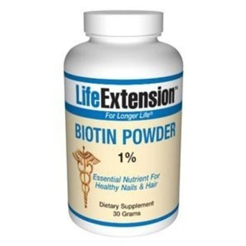 Life Extension, BIOTIN 30 GRAMS POWDER