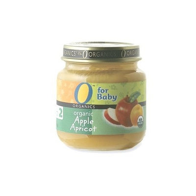 O Organics for Baby Organic Apple Apricot, Stage 2, 4-Ounce Jars (Pack of 12)