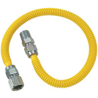 BrassCraft Brass Craft CSSL54-60 CSS Gas Connector 1/2 FIP X 1/2 MIP X 60 Coated Stainless Steel with Fitting