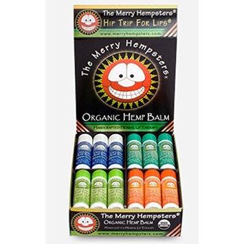 The Merry Hempsters Organic Hemp Lip Balm Assortment Counter Display 0.14oz/24pc from The Merry Hempsters