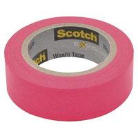 Scotch Washi Tape Neon Pink 10mX15mm