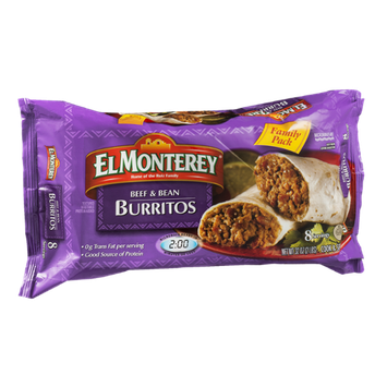 El Monterey Beef & Bean Burritos Family Pack - 8 CT