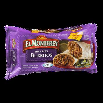 El Monterey Beef & Bean Burritos Family Pack - 8 CT