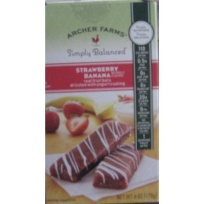 Archer Farms Strawberry Banana Real Fruit Bars drizzled with Yogurt coating 6...
